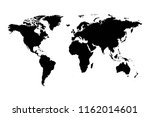 world map vector  isolated on... | Shutterstock .eps vector #1162014601