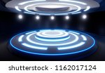 abstract empty studio with... | Shutterstock . vector #1162017124