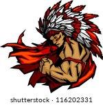 american,arm,brave,chief,face,feather,flex,flexing,head,headdress,high school,illustration,image,indian,mascot