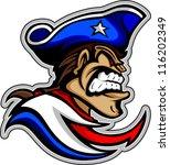 american,colonial,face,graphic,hat,head,high school,illustration,image,mascot,militia,minuteman,minutemen,patriot,revolution
