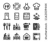 kitchen icon set | Shutterstock .eps vector #1162039444