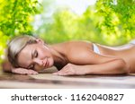 spa  wellness and relaxation... | Shutterstock . vector #1162040827