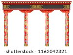 the eastern red chinese arch.... | Shutterstock .eps vector #1162042321