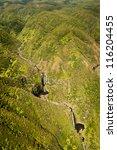 Aerial View Of Kahiwa Falls Of...