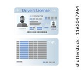 icon driver's license in flat... | Shutterstock .eps vector #1162047964