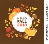 autumn seasonal banner with the ... | Shutterstock .eps vector #1162055314