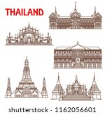 thailand famous historic... | Shutterstock .eps vector #1162056601