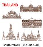 thailand famous historic...   Shutterstock .eps vector #1162056601