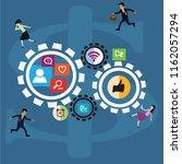 cycle's work of worker ... | Shutterstock .eps vector #1162057294