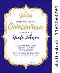 quincea era party for girl 15... | Shutterstock .eps vector #1162063294