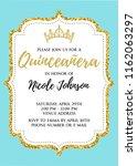 quincea era party for girl 15... | Shutterstock .eps vector #1162063297
