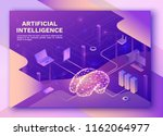 artificial intelligence landing ... | Shutterstock .eps vector #1162064977