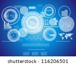 modern virtual technology... | Shutterstock .eps vector #116206501