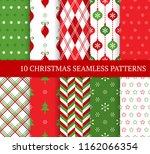 ten christmas different... | Shutterstock .eps vector #1162066354