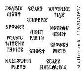 vector halloween poster with... | Shutterstock .eps vector #1162070947