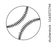 baseball ball icon. thin line... | Shutterstock .eps vector #1162072744