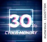cyber monday sale discount...   Shutterstock .eps vector #1162077304