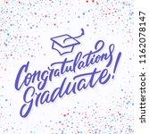 congratulations graduate banner. | Shutterstock .eps vector #1162078147