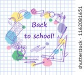 back to school   background...   Shutterstock .eps vector #1162081651