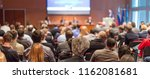 business conference and... | Shutterstock . vector #1162081681