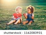 group portrait of white... | Shutterstock . vector #1162083931