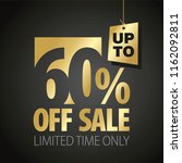 60 percent off sale discount... | Shutterstock .eps vector #1162092811