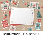 christmas decorative card ... | Shutterstock .eps vector #1162094311