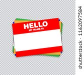 blank template tag my name is.... | Shutterstock .eps vector #1162097584