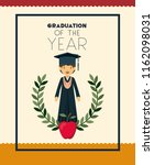 graduation card with man... | Shutterstock .eps vector #1162098031