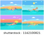 butterfly and freestyle ...   Shutterstock .eps vector #1162100821