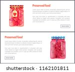 preserved food fruits posters... | Shutterstock .eps vector #1162101811