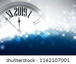 blue blurred shiny 2019 new... | Shutterstock .eps vector #1162107001