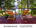 Wooden Deck At Forest Cottage...