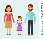 happy family on isolated... | Shutterstock .eps vector #1162116244