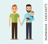 homosexual family with child.... | Shutterstock .eps vector #1162116271