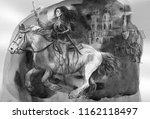 joan of arc. an hand painted... | Shutterstock . vector #1162118497