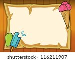 illustration of ice cream and... | Shutterstock .eps vector #116211907