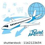 travel the world | Shutterstock .eps vector #1162123654
