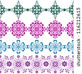 set seamless vintage colorful... | Shutterstock .eps vector #116212615