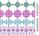 set seamless vintage colorful... | Shutterstock .eps vector #116212615