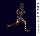 running marathon  people run ... | Shutterstock . vector #1162126291