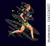 running marathon  people run ... | Shutterstock . vector #1162126327