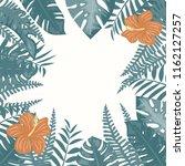 trendy summer tropical leaves... | Shutterstock .eps vector #1162127257