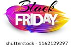 black friday sale sign with... | Shutterstock .eps vector #1162129297