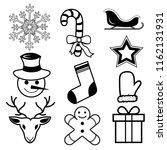 set of seasonal winter icons...   Shutterstock .eps vector #1162131931