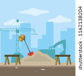 construction industry concept | Shutterstock .eps vector #1162138204