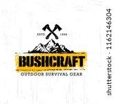 bushcraft outdoor adventure... | Shutterstock .eps vector #1162146304