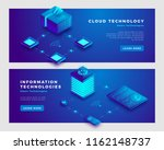 cloud technology and... | Shutterstock .eps vector #1162148737