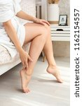 close up of legs of woman in... | Shutterstock . vector #1162154557