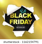 black friday sale gold... | Shutterstock .eps vector #1162154791